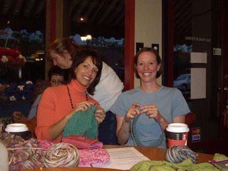Nachaele & Terrie Knitting Capelets