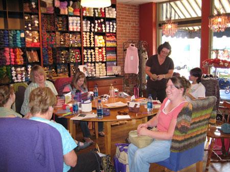 Knitters at Knit Knack