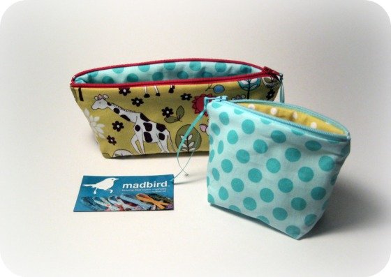 Madbird Zippered Pouches